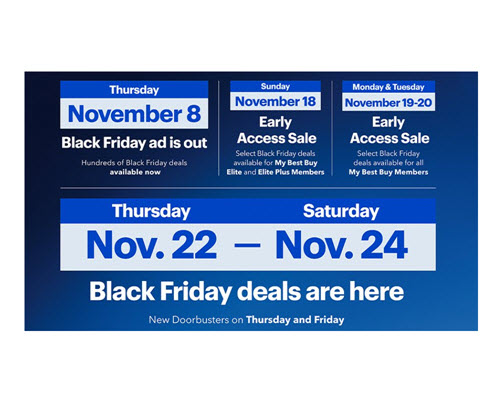 Black Friday Starts Now At Best Buy  Hundreds of deals from our just